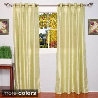 Faux Silk Grommet Top 84-inch Curtain Panel Pair