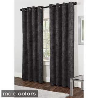 Antigua Embroidered 84-inch Grommet Top Curtain Panel Pair