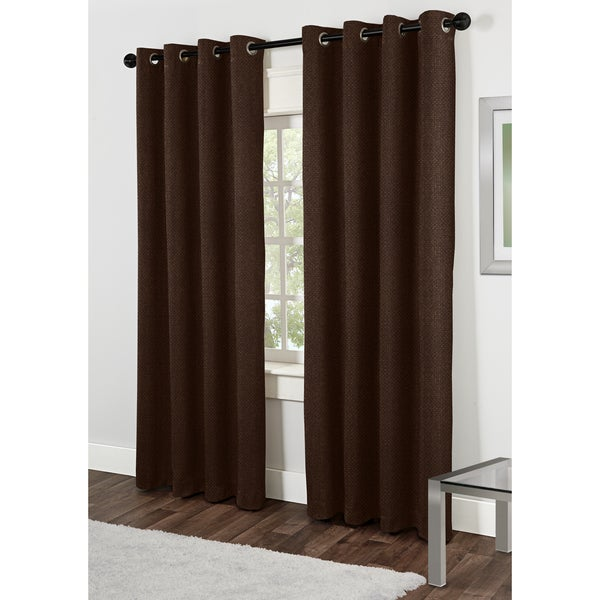 Lexington Mocha 84-inch Grommet Top Curtain Panel Pair