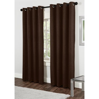 Lexington Mocha 84-inch Grommet Top Curtain Panel Pair