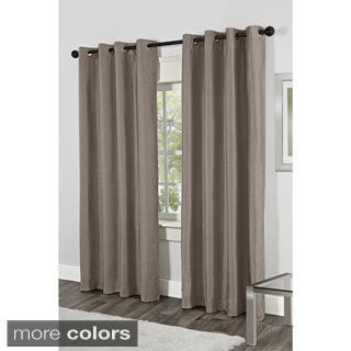 Dupioni Faux Silk Grommet Top Curtain Panel Pair