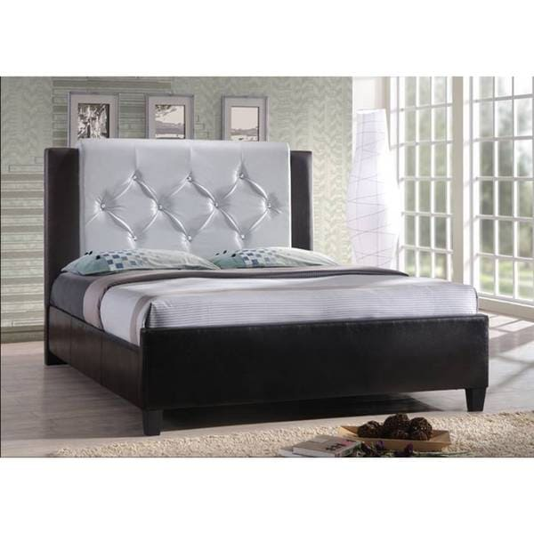 Hodedah Leather Platform Bed