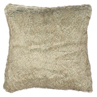 Fox Faux Fur 18-inch Throw Pillow