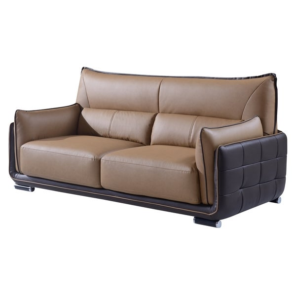 Light Brown/ Dark Brown Sofa