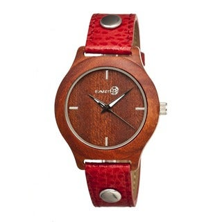 Earth Women's Tannins Red Leather Red Analog Watch