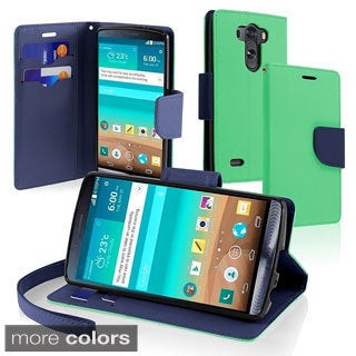INSTEN Flap Lanyard Wallet Card Slot Stand PU Leather Phone Case Cover for LG G3
