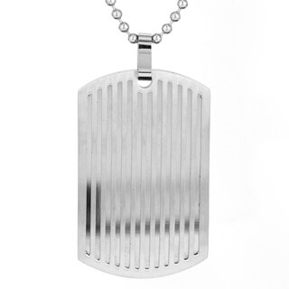 Stainless Steel Men's Dog Tag Pendant Necklace