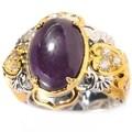 Michael Valitutti Two-tone Sugalite and White Sapphire Ring