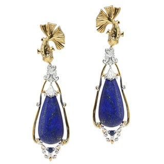 Michael Valitutti Two-tone Lapis and Blue Sapphire 'Fish' Earrings