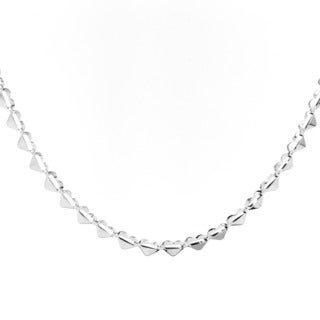 Stainless Steel Heart Charm Link Necklace