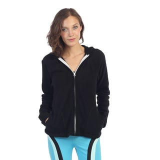 Hadari Women's Black Hooded Activewear Jacket