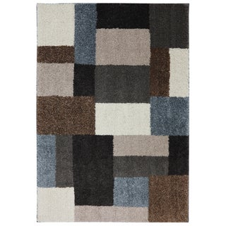 Woven Blocked Out Shag Rug (5'3 x 7'10)