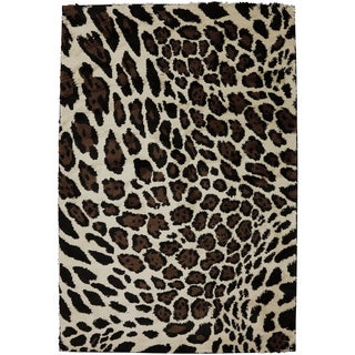 Woven Cheetah Brown Rug (8' x 11')