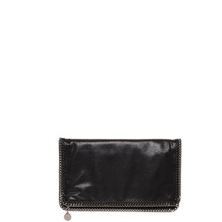 Stella McCartney 'Falabella' Black Fold-over Clutch