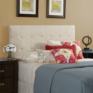 Humble + Haute Sussex Velvet Ivory Queen Tufted Upholstered Headboard