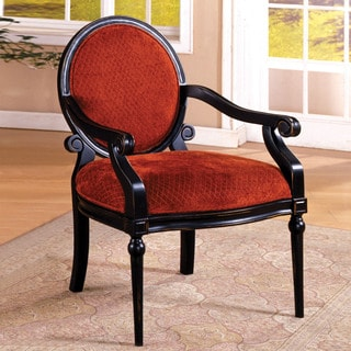 Furniture of America Geneve Red and Black Accent Chair