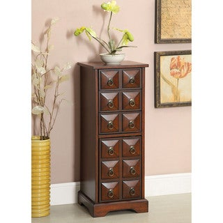 Furniture of America Artesia 3-Drawer and Cabinet Cherry Chest