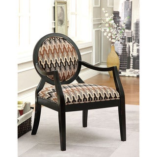 Furniture of America Rook Tribal Inspired Print Accent Chair
