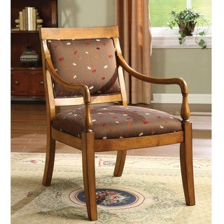 Furniture of America Felicity Confetti Patterned Accent Chair