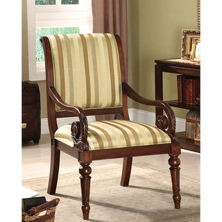 Furniture of America Arriston Striped Fabric Accent Chair
