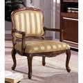 Furniture of America Ganderson Antique Oak Accent Chair