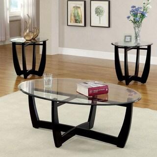 Furniture of America Shilton Modern 3-Piece Open Accent Table Set