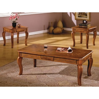 Furniture of America Chesham Traditional 3-Piece Accent Table Set