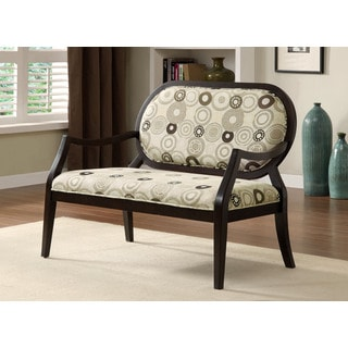 Furniture of America Lucerne Modern Espresso Accent Bench