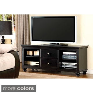 Furniture of America Harpenden Black Transitional TV Console