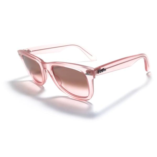 Ray-Ban Ice Pops Wayfarer 50mm Sunglasses - Pink Frame, Gradient Grey Lens