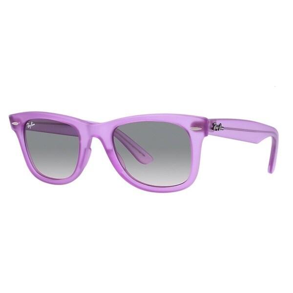 Ray-Ban Ice Pops Wayfarer 50mm Sunglasses - Violet Frame, Gradient Grey Lens