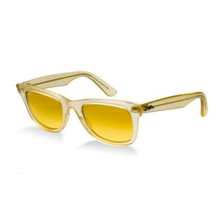 Ray-Ban Ice Pops Wayfarer 50mm Sunglasses - Orange Frame, Gradient Yellow Lens