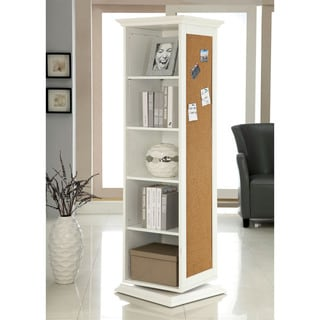 Furniture of America White Multi-Functional Swivel Storage Cabinet