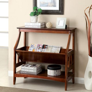 Furniture of America Chelise Cherry Open Shelf Stand