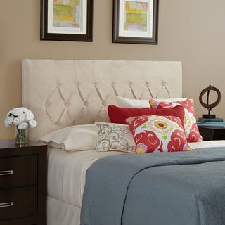 Humble + Haute Hampton Velvet Ivory Full Diamond Tufted Upholstered Headboard