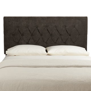 Humble + Haute Hampton Velvet Brown Queen Diamond Tufted Upholstered Headboard