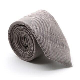 Zonettie by Ferrecci Zillo Tan Plaid Slim Necktie and Pocket Square Set