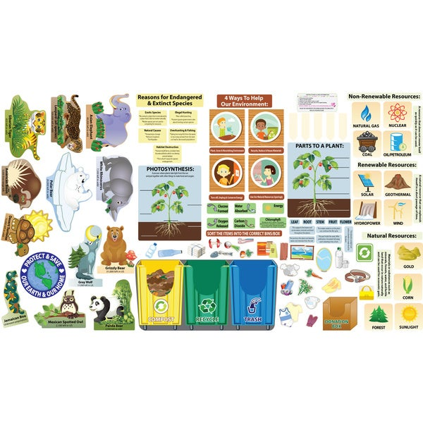 Peel Play & Learn Environmental Science Wall Decal Play Set