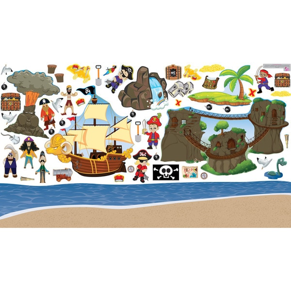 Pirate Island Interactive Wall Play Set