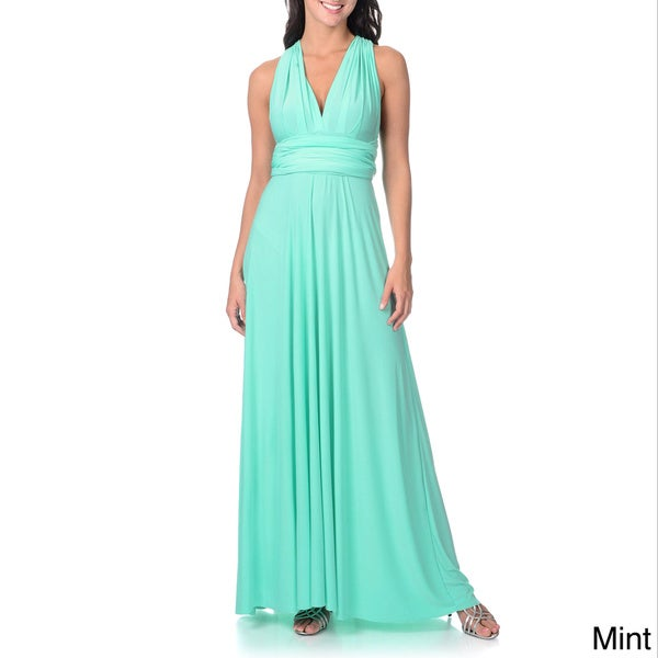 Von Ronen Women's Convertible Multi Way Wrap Bridesmaid Maxi Dress Long Cocktail Gown