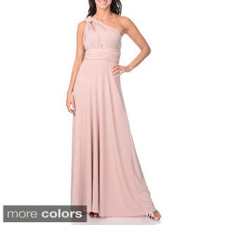 Von Ronen Women's Convertible Multi Way Wrap Bridesmaid Maxi Dress Long Cocktail Gown (One Size Fits 0-12)