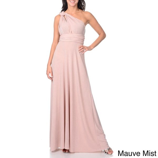 Von Ronen Women's Convertible Multi Way Wrap Bridesmaid Maxi Dress Long Cocktail Gown