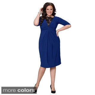 Kiyonna Women's Plus Size Signature Lace Cocktail Dress