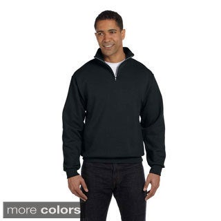 Men's 50/50 NuBlend Quarter-zip Cadet Collar Sweatshirt