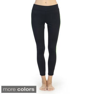 Hadari Women's Slim-leg Double Stripe Active Pants