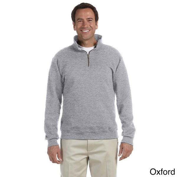 Men's 50/50 Super Sweats NuBlend Fleece Quarter-zip Pullover (XL/Black)(As Is Item)