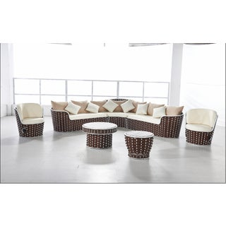 Monaco Rattan Patio 7-piece Sectional Set