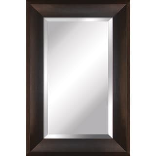 Yosemite Home Decor Espresso Finished Frame Mirror