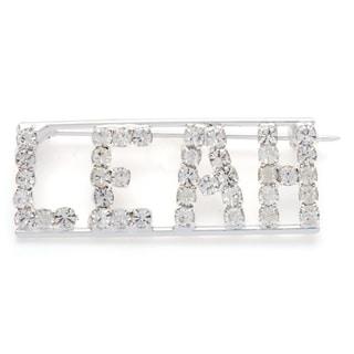 Detti Originals Silver 'LEAH' Crystal Name Pin
