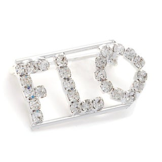 Detti Originals Silver 'FLO' Crystal Name Pin